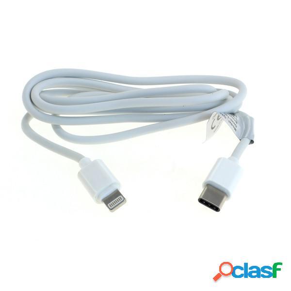 Cable de datos usb tipo C (Usb-C) a Lightint de iPhone