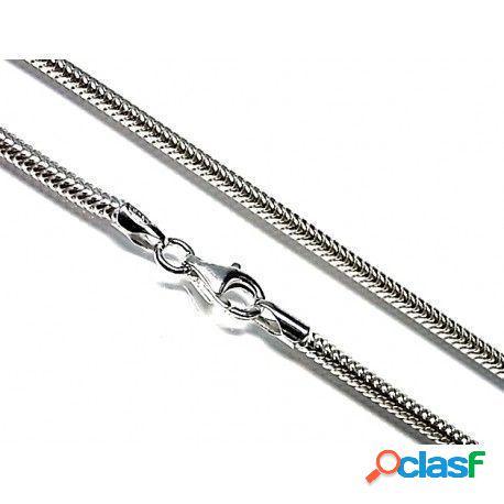 Cadena cola de topo de plata de ley 70 cm. 2 mm.grosor