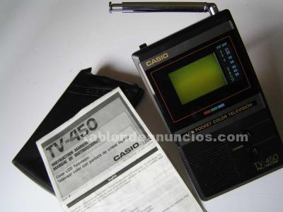 Casio tv-450 mini television televisor color portatil con