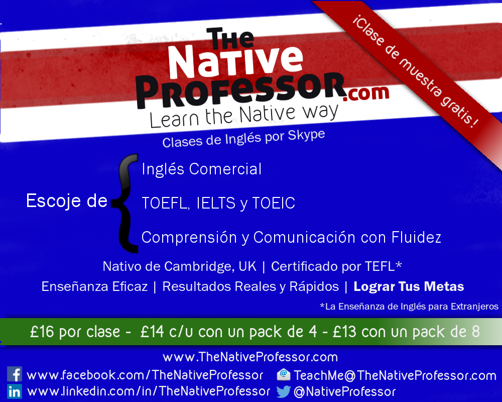 Clases de Ingles - Profesor Nativo de Cambridge - Barcelona
