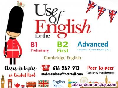 Clases de inglés individuales en ciudad real capital
