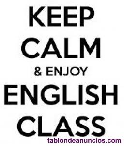 Clases particulares de inglés con profe nativo