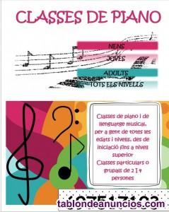 Classes de piano clàssic i/o modern