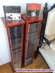 Colección cd\'s; 130 cd\'s con 2 torres