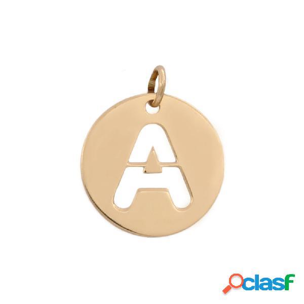 Colgante personalizado letra calada 12 mm. de oro 18 kl.