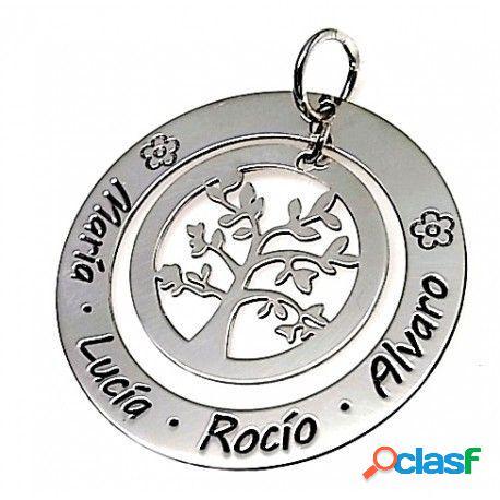 Colgante Árbol de la vida con nombres de plata