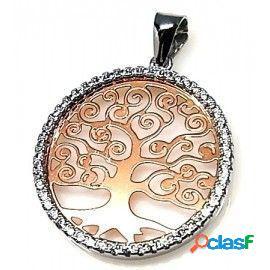 Colgante Árbol de la vida de plata y circonitas