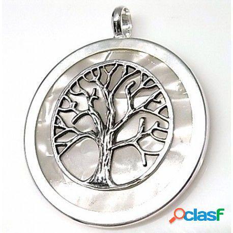 Colgante Árbol de la vida de plata y piedra