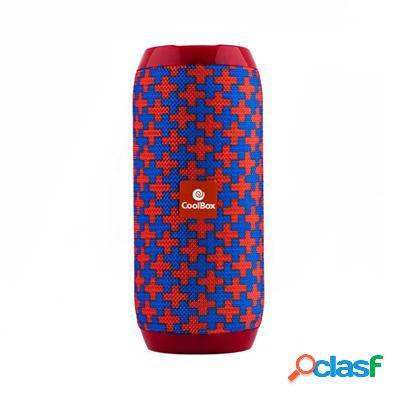 Coolbox Altavoz 2. 0 Bt Cooltube Rojo y Azul, original de la