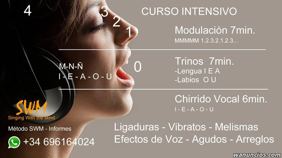 Curso Intensivo de Canto a Domicilio - Madrid