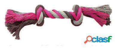 Duvo+ Cuerda Rosa Con 2 Nudos para perros XL