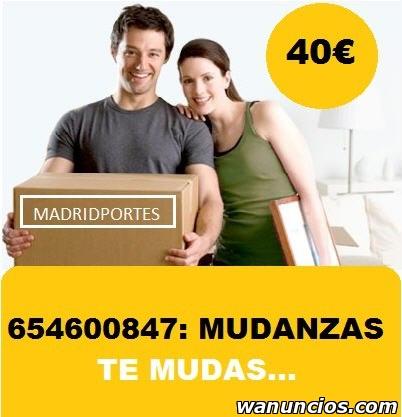 EXCELENTE SERVICIO DE MUDANZAS OO847 PORTES PARLA -