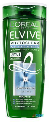 Elvive Champú Anticaspa Elvive Phytoclear 2 en 1 370 ml 370