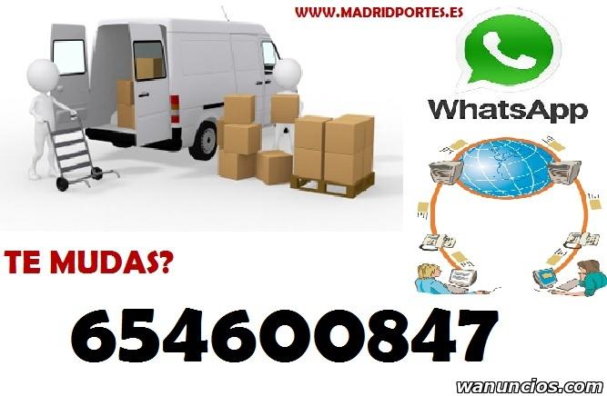 FLETES DE MOBILIARIOS OO8,,47 PORTES ECONOMICOS MADRID