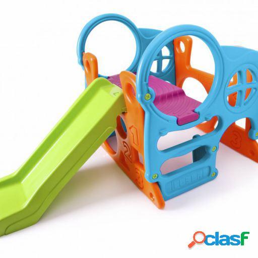 Feber Centro de actividades con tobogán para niños de 2