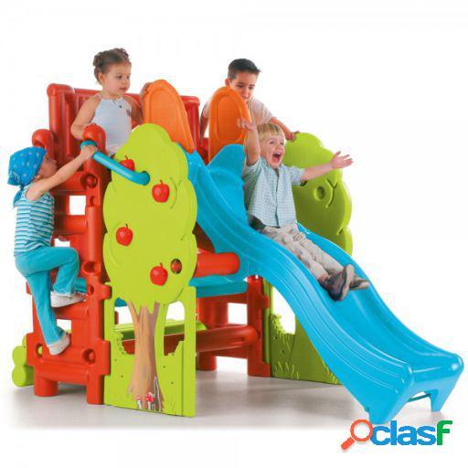 Feber Tobogán casita de juegos del bosque para niños de 3