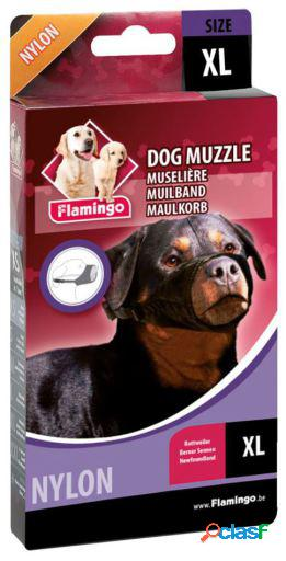 Flamingo Bozal de nailon XL para perro rottweiler 29 cm 57 a