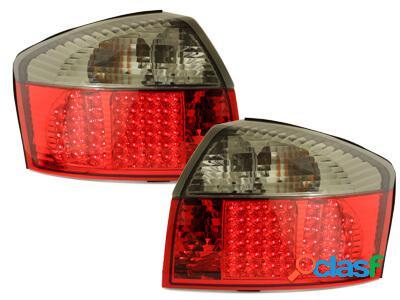 Focos Faros traseros LED Audi A4 8E Lim. 01-04 rojo/ahumado