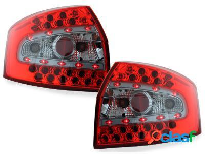 Focos Faros traseros LED Audi A4 8E Lim. 01-04 rojo/cristal