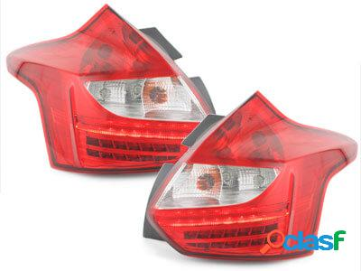 Focos Faros traseros LED Ford Focus 2011+ rojo/transparente