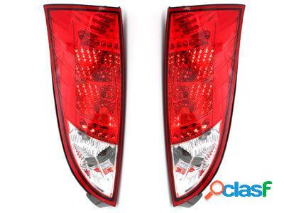 Focos Faros traseros LED Ford Focus 98-04 rojo/cristal