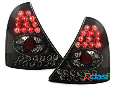 Focos Faros traseros LED Renault Clio II 98-01 negro