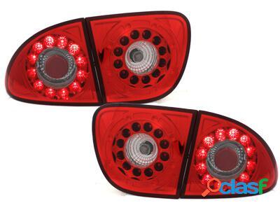 Focos Faros traseros LED Seat Leon 99-05 rojo/cristal