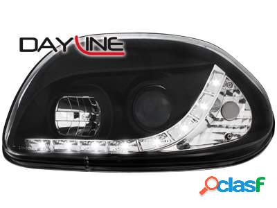 Focos delanteros luz diurna DAYLINE para Renault Clio II