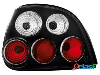 Focos traseros para Renault Megane 5T 99-02 negros