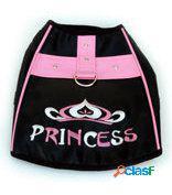 Freedog Arnés Princess de color Negro Rosa XS