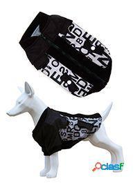 Freedog Chaqueta Alphabet para perros de color negro 70 cm