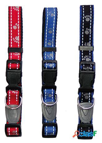 Freedog Collar De Nylon Reflectante 20Mm Para Perros Negro