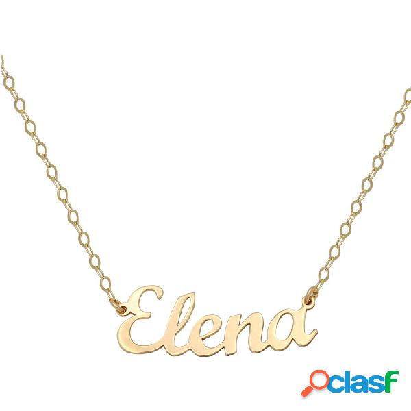 Gargantilla nombre letra inglesa de oro de 18 kl (5 letras)