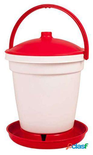 Gaun Bebedero de Plastico para Aves 6 Lts. Rojo