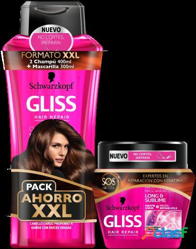 Gliss Gliss 2 Champús 400 ml+ Mascarilla Long & Sublime