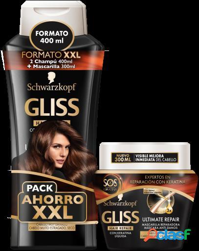 Gliss Gliss 2 Champús 400 ml + Mascarilla Ultimate Repair