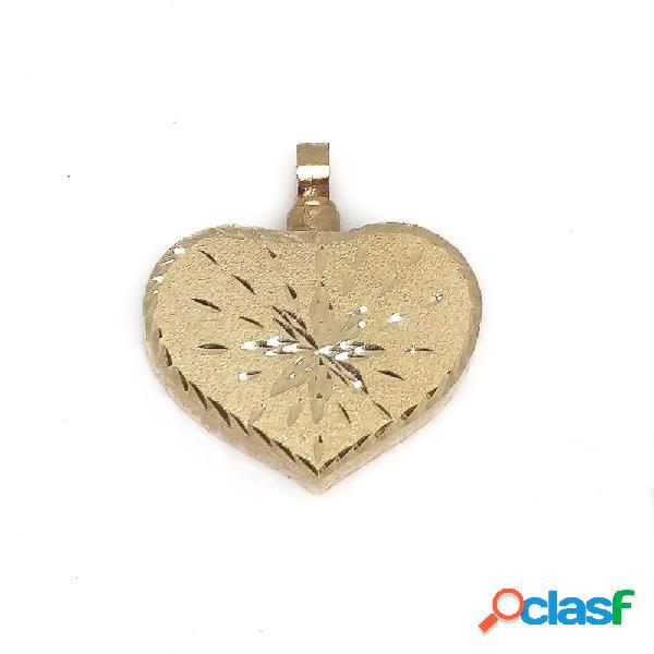 Guardacenizas corazón de oro de 18 kl. tallado 25x29 mm.