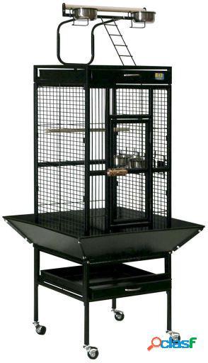 Ica Jaula Recreo Negra con Pie Exterior 21.69 kg