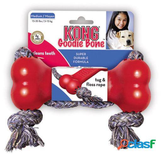 KONG Goodie Bone Con Cuerda M
