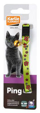 Karlie Flamingo Art sportiv Collar Gato Flores verdes 10 Mm