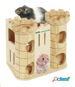 Karlie Flamingo Castillo robin para hamster juego torre de