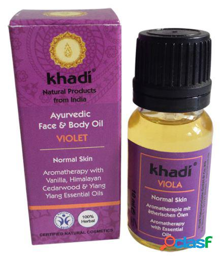 Khadi Aceite facial de Violeta, para pieles normales 10 ml