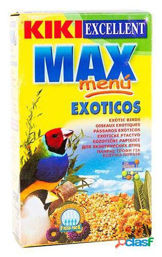 Kiki Kiki max menú para pájaros exóticos a base de mezcla