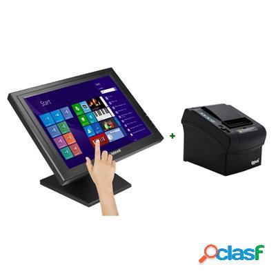 "Kit iggual Monitor Táctil 15"" + Impresora térmica,"