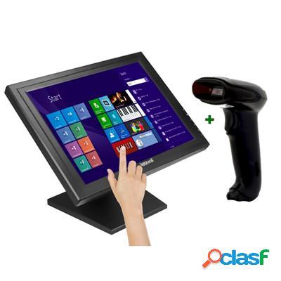 """Kit iggual Monitor Táctil 15"""" + Lector 1D Imag. Usb,"""