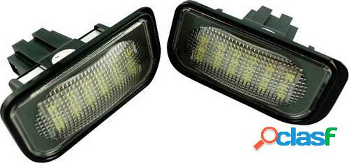 Kit luces de matricula de LEDs para Mercedes C W203 Sedan