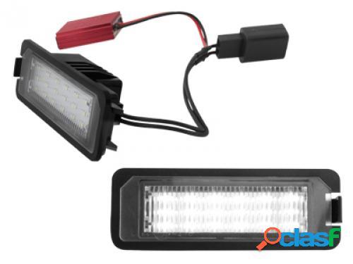 Kit luces de matricula de LEDs para VW Golf V negro
