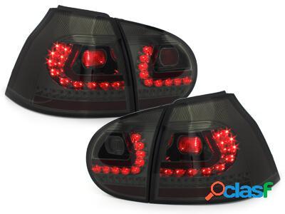 LITEC Focos Faros traseros LED VW Golf V 03-09 ahumado