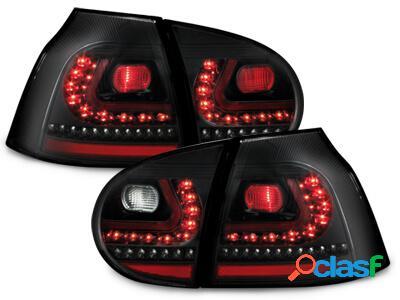 LITEC Focos Faros traseros LED VW Golf V 03-09 negro