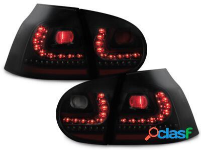 LITEC Focos Faros traseros LED VW Golf V 03-09 negro/ahumado